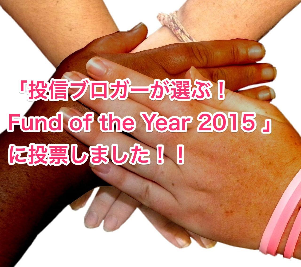 投信ブロガーが選ぶ! Fund of the Year 2015
