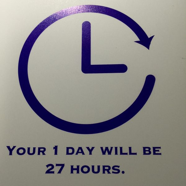1day will be 27 hours