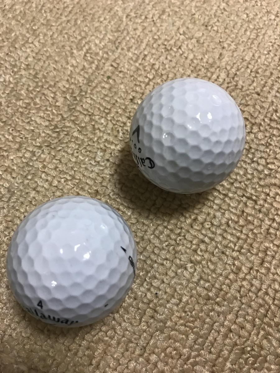 2つのゴルフボール1