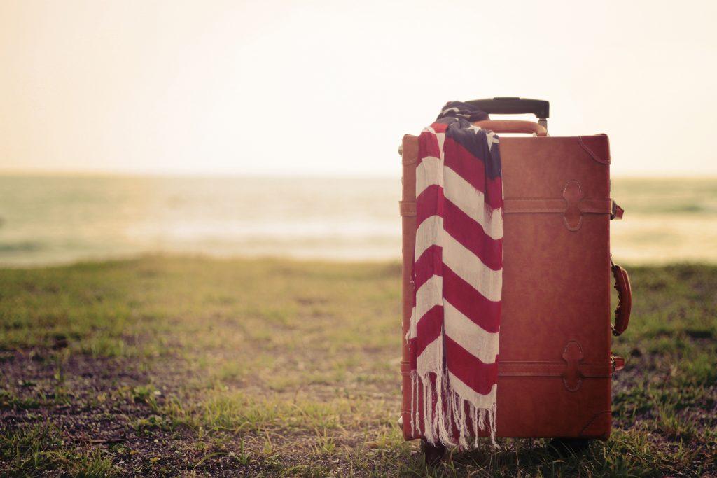 キャメル色のおしゃれなスーツケース