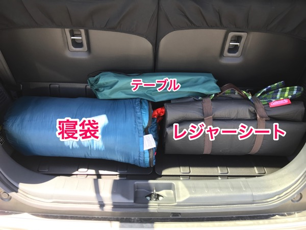いつでも野外ノマドを 車にピクニックセットを積んでみた 1