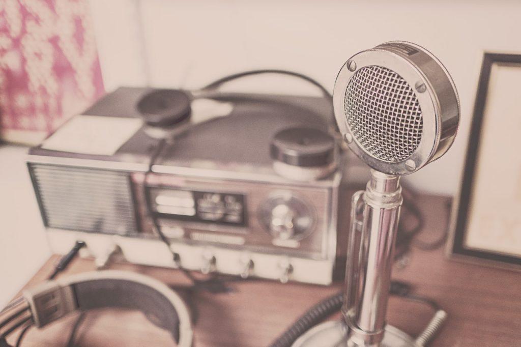 ラジオの収録風景